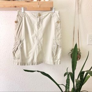 Banana Republic off white khaki skirt